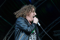 Matt Bowman of The Pigeon Detectives performs at AmpRocks  2016 at Ampthill Great Park, Ampthill, England on 1 July 2016. Photo by David Horn.