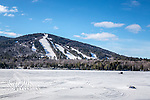 Shawnee Peak ski area in Bridgton, Maine, USA