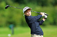 Eoin Devaney (Ballina) on the 1st tee during the Connacht U12, U14, U16, U18 Close Finals 2019 in Mountbellew Golf Club, Mountbellew, Co. Galway on Monday 12th August 2019.<br /> <br /> Picture:  Thos Caffrey / www.golffile.ie<br /> <br /> All photos usage must carry mandatory copyright credit (© Golffile | Thos Caffrey)