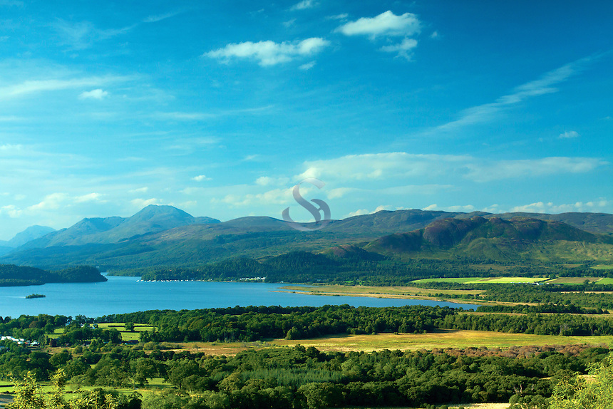 Loch Lomond, Ben Lomond and Conic Hill, from Duncryne, Gartocharn, Loch Lomond and the Trossachs National Park, Argyll & Bute