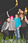 DISPLAY: Emma Peterson, Dara Lenihan and Jason Teahan who got to meet the stars of the fir display on Friday evening in the town Park Tralee in Conjuction with the CultureNight 2012.