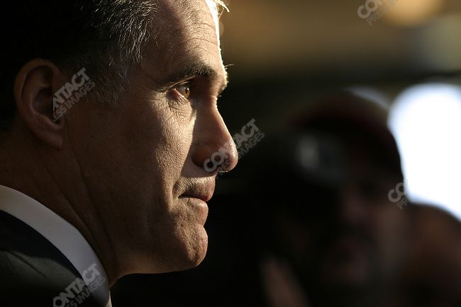Republican Governor Mitt Romney at Fanheuil Hall in Boston, Massechussetts. April 12, 2006..2006  © David Burnett (Contact Press Images)