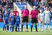 9th September 2017, King Power Stadium, Leicester, England; EPL Premier League Football, Leicester City versus Chelsea; Players, official pals and mascots line up before the game