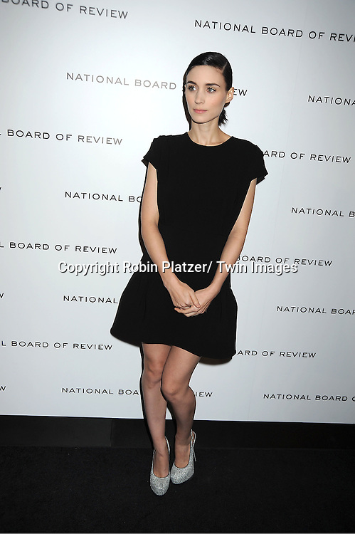 actress Rooney Mara in black Miu Miu dress attends The National Board of Review Film Awards Gala on January 10, 2012 at Cipriani 42nd Street in New York City.