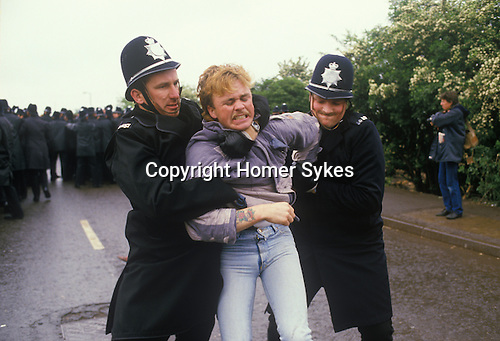Miners Strike. Orgreave Near Rotherham Yorkshire 1984.