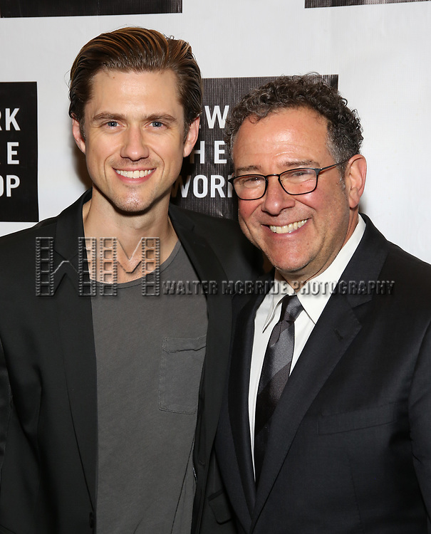 Aaron Tveit and Michael Greif attends New York Theatre Workshop's 2017 Spring Gala at the Edison Ballroom on May 15, 2017 in New York City.