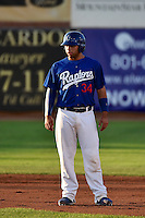 Julian Leon (34) of the Ogden Raptors during the game against the Missoula Osprey in Pioneer League action at Lindquist Field on August 4, 2014 in Ogden, Utah.  (Stephen Smith/Four Seam Images)