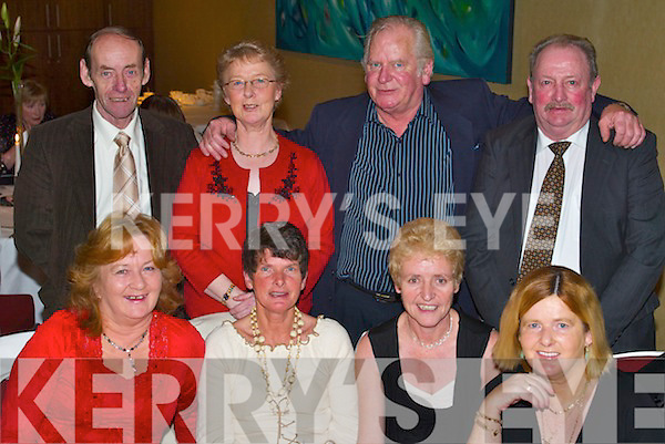 Social: Having a lovely evening at the Ballinorig Social in The Manor West Hotel, Tralee, on Friday were, front l-r: Marilyn Wrenn, Valerie Prenderville, Marie Flaherty and Anne Iszatt. Back l-r: Tony Stack, Kay Stack, James Wrenn and Thomas OSullivan..