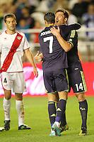 MADRI, ESPANHA, 24 SETEMBRO 2012 - CAMP. ESPANHOL - RVL X MAD - Cristiano Ronaldo jogador do Real Madrid comemora seu gol durante lance de partida contra o Rayo Valecano, no estadio Teresa Rivero em Madri capital da Espanha, pela quinta rodada do campeonato espanhol nesta segunda-feira, 24. (FOTO: CESAR CEBOLLA / ALFAQUI / BRAZIL PHOTO PRESS).