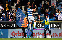 Queens Park Rangers' Nahki Wells celebrates scoring his side's first goal <br /> <br /> Photographer Andrew Kearns/CameraSport<br /> <br /> The EFL Sky Bet Championship - Queens Park Rangers v Blackburn Rovers - Saturday 5th October 2019 - Loftus Road - London<br /> <br /> World Copyright © 2019 CameraSport. All rights reserved. 43 Linden Ave. Countesthorpe. Leicester. England. LE8 5PG - Tel: +44 (0) 116 277 4147 - admin@camerasport.com - www.camerasport.com