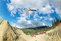 .. Cam McCaul .Crankworx Slopestyle competition , Whistler , BC Canada..July 2006..pic copyright Steve Behr / Stockfile