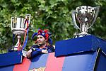 League Santander 2017/2018.<br /> Rua de Campions FC Barcelona.<br /> Andres Iniesta.