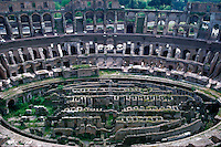 Rome, Italy. View of interior of the Colosseum, the Flavian Amphitheater.