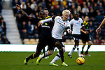 Derby County v Sheffield Wednesday<br /> 9.11.2013<br /> Sky Bet Championship<br /> Picture Shaun Flannery/Trevor Smith Photography<br /> Wednesday's Jeremy Helan challenges Derby's Will Hughes.