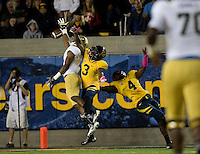 Kameron Jackson of California knocks the ball away from UCLA during the game at Memorial Stadium in Berkeley, California on October 6th, 2012.  California defeated UCLA, 43-17.