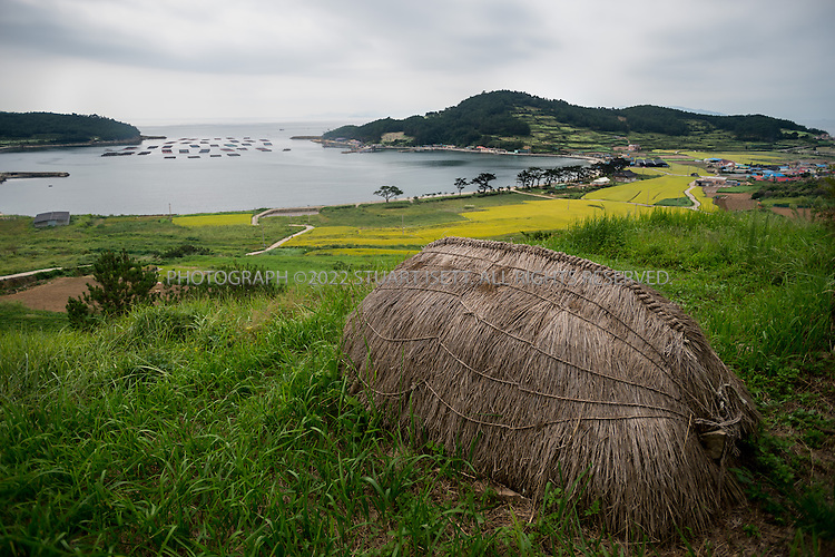 9/11/13 -- Cheongsando Island, Jeonnam Province (Jeollanam-do), South Korea<br /> <br /> A &quot;choboon&quot; or traditional funeral-cover, where bodies are kept for 3 years before final burial on Cheongsando Island.<br /> <br /> Photograph by Stuart Isett<br /> &copy;2013 Stuart Isett. All rights reserved.