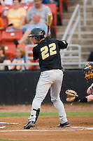 West Virginia second baseman Kenny Holmberg (22) at bat versus Hickory at L.P. Frans Stadium in Hickory, NC, Friday, August 24, 2007.