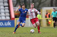 Mark McKee of Stevenage and Perry Ng of Crewe Alexandra during Stevenage vs Crewe Alexandra, Sky Bet EFL League 2 Football at the Lamex Stadium on 10th March 2018