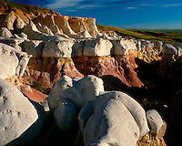 Morning light on the hoodoo formations at the Paint Mines in eastern Colorado; El Paso County, CO