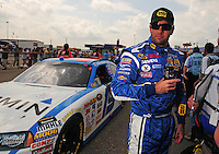 Apr 26, 2008; Talladega, AL, USA; NASCAR Sprint Cup Series driver Elliott Sadler during qualifying for the Aarons 499 at Talladega Superspeedway. Mandatory Credit: Mark J. Rebilas-