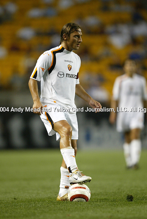 29 July 2004: Francesco Totti in the second half. Chelsea of the English Premier League defeated AS Roma of La Liga at Heinz Field in Pittsburgh, PA in a ChampionsWorld Series friendly match...