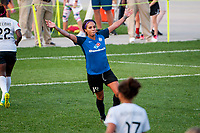 Kansas City, MO - Sunday September 3, 2017: Sydney Leroux Dwyer, celebrate, celebration during a regular season National Women's Soccer League (NWSL) match between FC Kansas City and Sky Blue FC at Children's Mercy Victory Field.