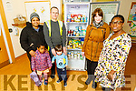 Members of the St Bridgets Community Centre stand at the Food Share fridge in St Bridget's Community Centre on Thursday.<br /> Front l to r: Courtney Sheehy (Food Share Share) and Afi Attilado.<br /> Back l to r: Blessing and Angel Rufus, Oisin Ribeiro and Brian McCannon (Food Share Share).