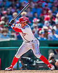 30 July 2017: Washington Nationals infielder Wilmer Difo in action against the Colorado Rockies at Nationals Park in Washington, DC. The Rockies defeated the Nationals 10-6 in the second game of their 3-game weekend series. Mandatory Credit: Ed Wolfstein Photo *** RAW (NEF) Image File Available ***