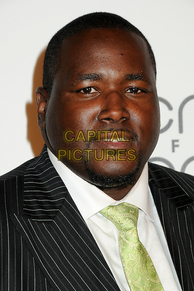 """QUINTON AARON .Interscope Geffen A&M Records 4th Annual """"Creme of the Crop"""" Post BET Awards 2010 Celebration held at Mr. Chow Restaurant,  Beverly Hills, California, USA, 27th June 2010..portrait headshot  green tie facial hair goatee  black white shirt .CAP/ADM/BP.©Byron Purvis/AdMedia/Capital Pictures."""