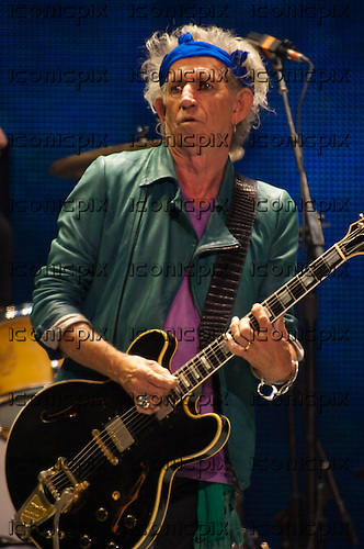 The Rolling Stones - guitarist Keith Richards - performing live on the '50 and Counting Tour' at The Honda Center in Anaheim, CA USA - May 15, 2013.  Photo credit: Kevin Estrada / IconicPix