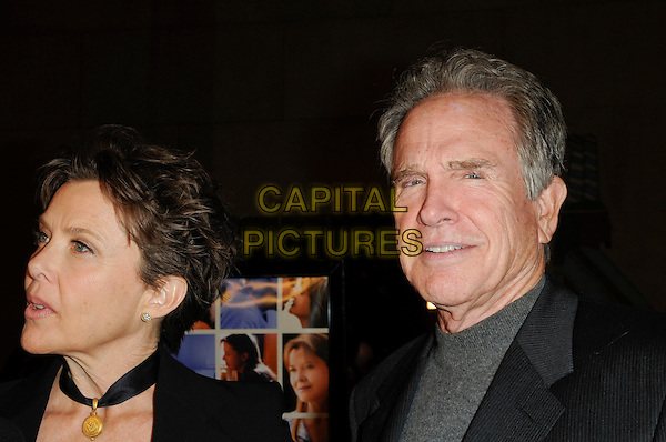 ANNETTE BENING & WARREN BEATTY.The Sony Picture Classics L.A. Premiere of 'Mother and Child' held at The Egyptian Theatre in Hollywood, California, USA..April 19th, 2010 .headshot portrait black gold choker necklace profile grey gray married husband wife .CAP/ROT.©Lee Roth/Capital Pictures
