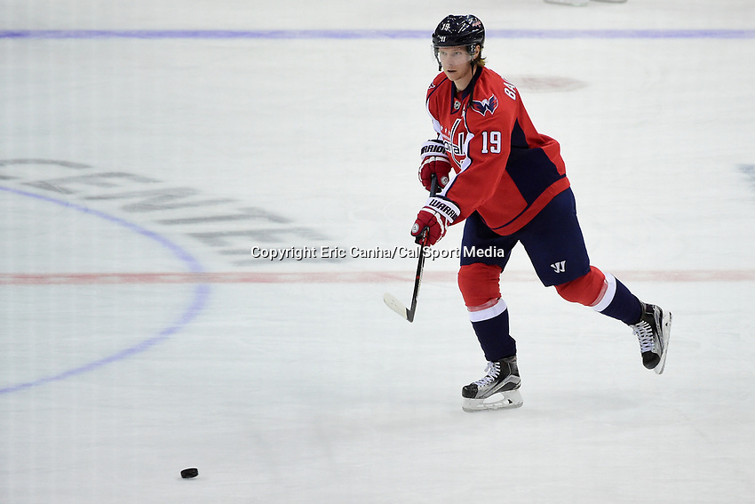 Thursday, April 14, 2016: Washington Capitals center Nicklas Backstrom (19) warms up prior to game 1 of the first round of the National Hockey League Eastern Conference playoffs  between the Philadelphia Flyers and the Washington Capitals held at the Verizon Center in Washington, DC. Washington defeats Philadelphia 2-0. Eric Canha/CSM