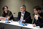"The left to the right, the director of the Nocturna Film Festival, Luis Rosales, american director John Landis and the editor of the book, Gerardo Santos Bocero during the press conference to present the book ""John Landis. Un Hombre Lobo en Hollywood"" in Madrid. May 27, 2016. (ALTERPHOTOS/Borja B.Hojas)"