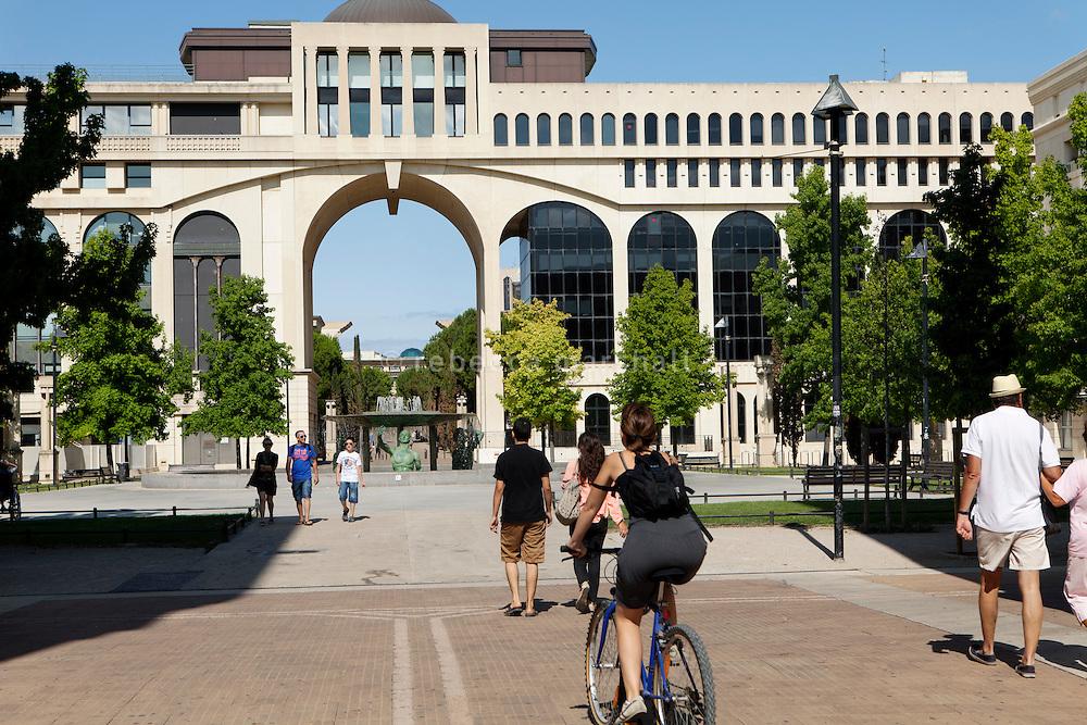 Place de Thessalie, Antigone, Montpellier, France, 15 July 2012