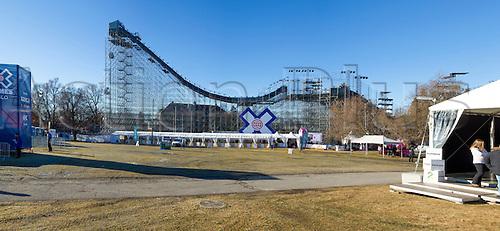 27.02.2016. Toyen, Big Jump Oslo, Norway.  Red Bull X Games Oslo 2016. The Toyen Big Jump during the Red Bull X Games Oslo 2016 in Toyen Big Jump  Oslo, Norway.