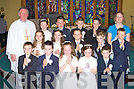 Pupils from Kilcummin NS who received their First Holy Communion in Kilcummin on Saturday front row l-r: Denis Creedon, Cillian O'Donoghue, Emily Egan, Mary Murphy, Daniel Keane. Middle row: Isabelle Kehoe, Emily Kehoe, Keith O'Leary, Cathal Healy, Darragh O'Brien. Back row: Fr Joe Begley, Leo O'Brien, David Sugrue, Niall Daly, DJ O'Leary, Marie Condon