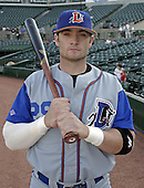 May 10, 2004:  Jonny Gomes of the Durham Bulls, International League (AAA) affiliate of the Tampa Bay Devil Rays, during a game at Frontier Field in Rochester, NY.  Photo by:  Mike Janes/Four Seam Images