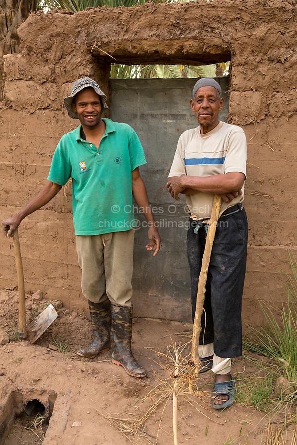 Zagora, Morocco.  Moroccan Afro-Arab Farmers.