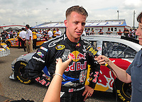 Apr 26, 2008; Talladega, AL, USA; NASCAR Sprint Cup Series driver A.J. Allmendinger during qualifying for the Aarons 499 at Talladega Superspeedway. Mandatory Credit: Mark J. Rebilas-