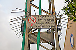 Power Line Tower Danger Sign