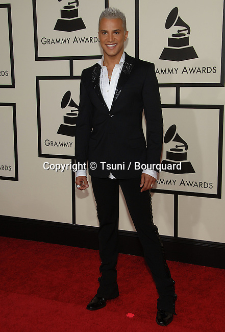 Jay Manuel arriving at 50th Annual Grammy Award at the Staples Center In Los Angeles.<br /> <br /> <br /> full length<br /> eye contact<br /> smile