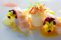 Hearts of palm with shrimp at Canlis Restaurant. (Photo by Scott Eklund)