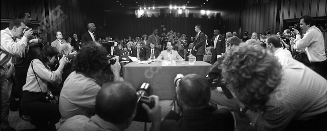 Condoleezza Rice, National Security Adviser, gives testimony before the 9/11 Commission, April 2004.