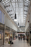 Interior of the Argyll Shopping Arcade in Glasgow, Scotland