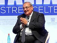 Domenico Menniti, Presidente Harmont e Blaine, interviene durante il XXIX convegno di Capri per Napoli   dei  Giovani Industriali a Citta della Scienza , 25 Ottobre 2014
