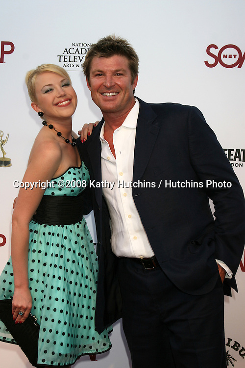 """Adrienne Frantz & Winsor Harmon arriving at the SoapNet """"Night Before Party"""" for the nominees of the 2008 Daytime Emmy Awards at Crimson & Opera in Hollywood, CA.June 19, 2008.©2008 Kathy Hutchins / Hutchins Photo ."""