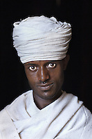 Priest (Melese Anawte) at Bet Meskel church, Ethiopia, 2006