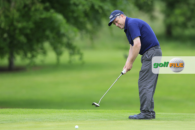 Patrick Bevins (Carlow) on the 13th during the final round of the Connacht Mid Amateur Open, Athenry Golf Club, Athenry, Co Galway, Ireland. 28/05/2017.<br /> Picture: Golffile | Fran Caffrey<br /> <br /> <br /> All photo usage must carry mandatory copyright credit (&copy; Golffile | Fran Caffrey)