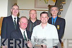 CAPTAINS PRIZE: Alan Kelly winner of the Old Reserve Golf Prize been presented with a waterford crystal bowl by captain John Campbell at the prize given cermony at the Ballyroe Heights Hotel, Tralee on Saturday night. looking on were. Donal O'Mahony(President), Tommy Egan (Vice captain) and Mike Barry(Treasurer).   Copyright Kerry's Eye 2008