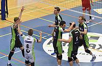PREFAXIS MENEN - NOLIKO MAASEIK :<br /> juichende spelers van Menen<br /> <br /> Foto VDB / Bart Vandenbroucke